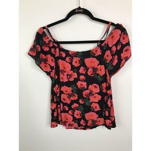 Billabong Summer Nights Top Floral Cold Shoulder
